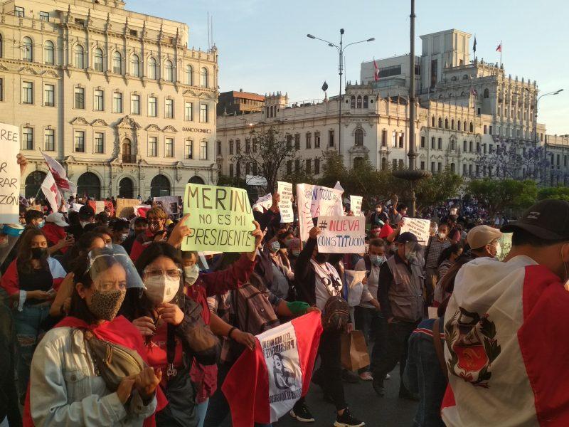 Protest w stolicy Peru - Limie, źródło: Wikipedia, fot. Johnattan Rupire (CC BY-SA 4.0)