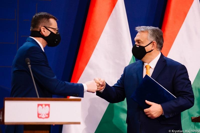 Szefowie rządów Polski i Węgier Mateusz Morawiecki i Viktor Orban, źródło Krystian Maj KPRM
