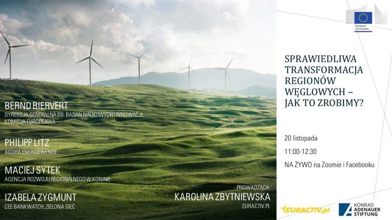 Sprawiedliwa Transformacja, regiony węglowe, regiony górnicze, Unia Europejska, Polska, Niemcy, kopalnie, górnicy, Fundusz Sprawiedliwej Transformacji