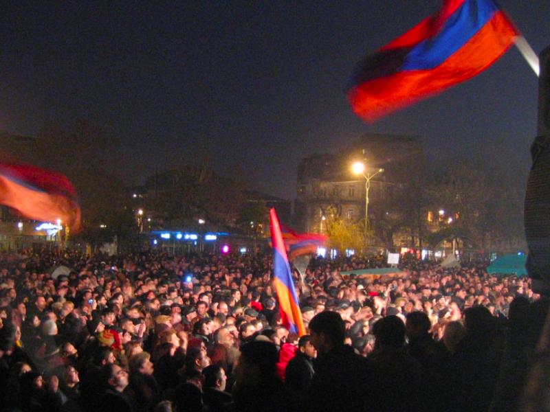 Protesty w Armenii, źródło: Wikipedia, fot. Serouj (CC BY 3.0)