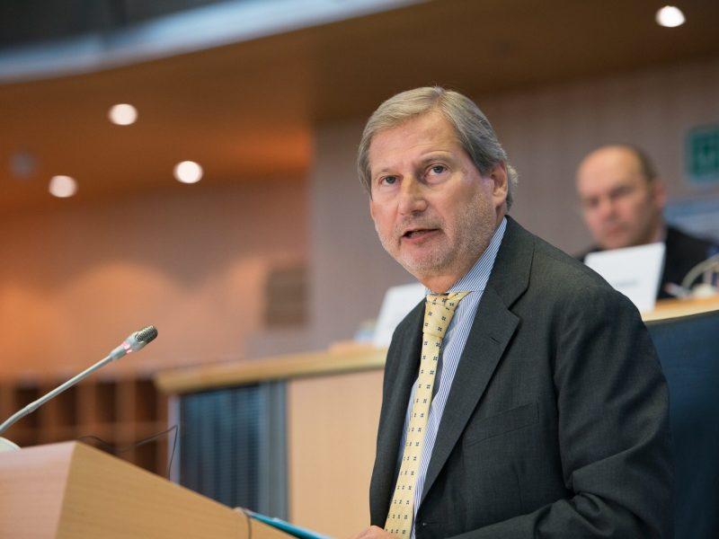 Johannes Hahn. Komisja Europejska, komisarz ds. budżetu