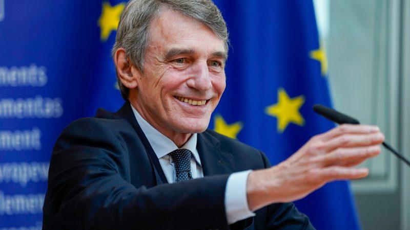 David Sassoli, Parlament Europejski, PE