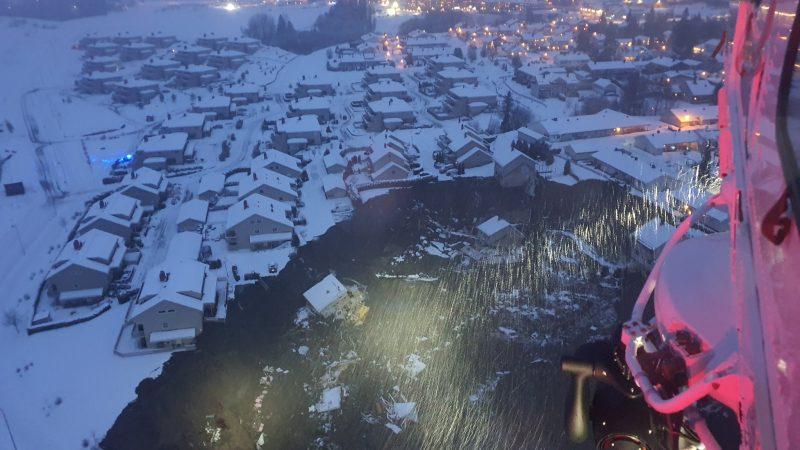 Norwegia, osuwisko, akcja ratunkowa