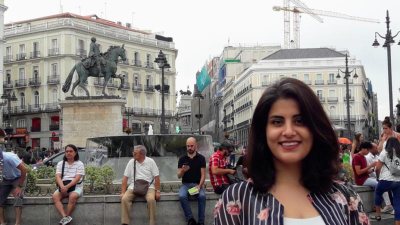 Ludżajn al-Hazlul jeszcze przed aresztowaniem podczas pobytu w Europie, źródło: Wikipedia, fot. Emna Mizouni (CC BY 4.0)