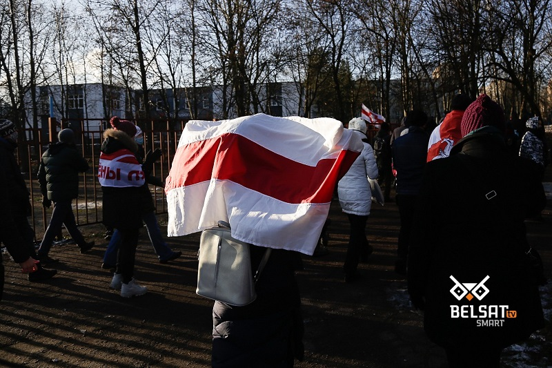 Protest na Białorusi, źródło belsat.eu