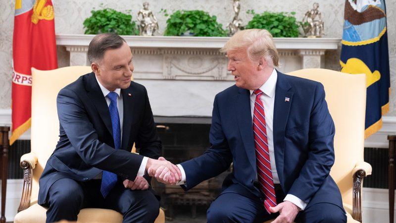 Andrzej Duda, Donald Trump, USA, Stany Zjednoczone, Polska, prezydent