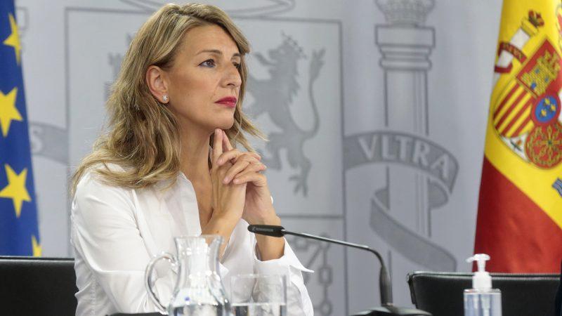 Hiszpania, bezrobocie, ERTE, Yolanda Diaz