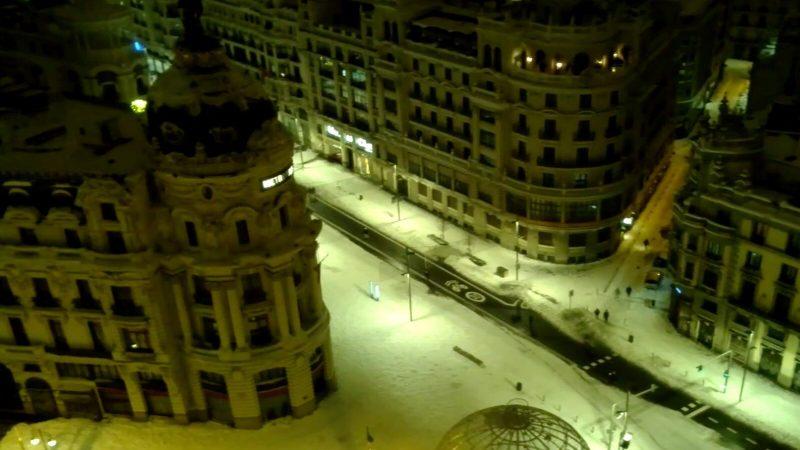 Madryt, śnieżyca, Hiszpania