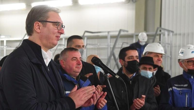 Prezydent Aleksandar Vucic otworzył serbski odcinek gazociągu Turecki Potok, źródło: Facebook/Aleksandar Vučić (@buducnostsrbijeavucic)