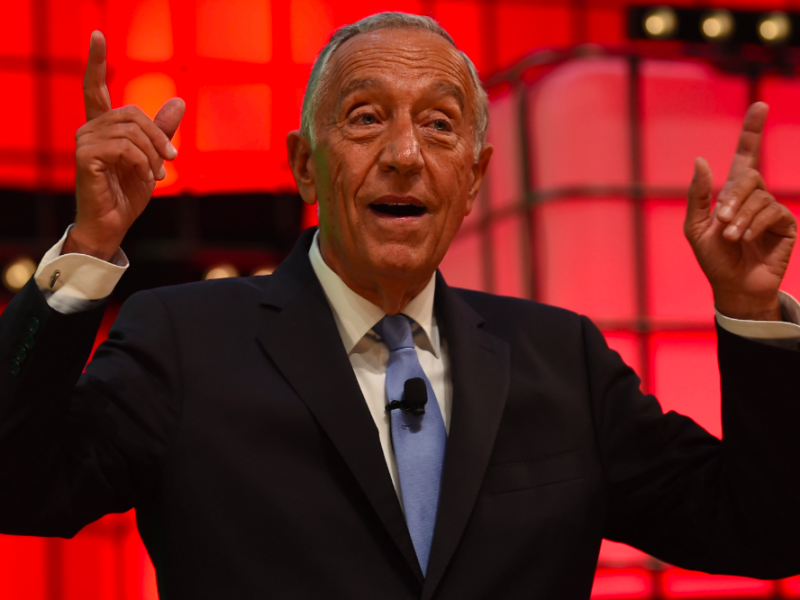 Prezydent Portugalii Marcelo Rebelo de Sousa, źródło: Flickr/Diarmuid Greene/Web Summit via Sportsfile (CC BY 2.0)