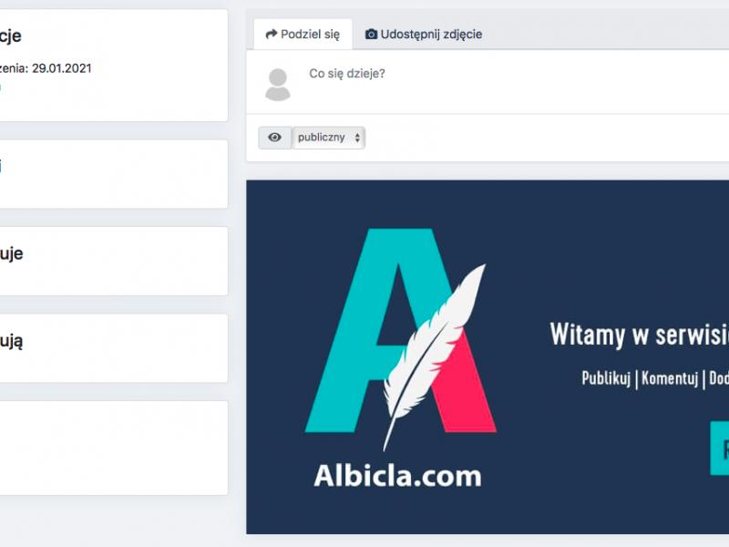 Serwis Albicla ma już według jego właścicieli 40 tys. użytkowników (źródło: Albicla.com)