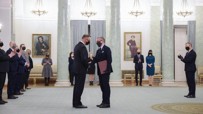 Nominacja Krzysztofa Szczerskiego na stanowisko Pełnomocnikiem ds. utworzenia Biura Polityki Międzynarodowej Prezydenta RP/ Zdjęcie: Twitter