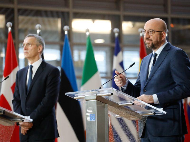 Jens Stoltenberg, Charles Michel, NATO, Unia Europejska, UE, Rada Europejska, RE