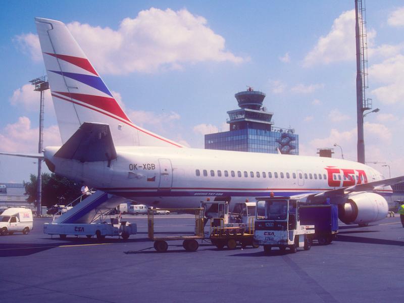 Boeing 737 linii Czech Airlines na lotnisku w Pradze, źródło: Flickr/Aero Icarus (CC BY-SA 2.0)