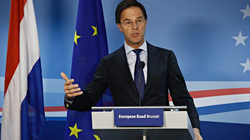 Mark Rutte, Holandia, premier