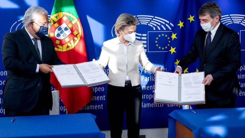 Unia Europejska, pandemia, koronaiwrus, Komisja Europejska, instrument na rzecz odporności, Costa, Sassoli, von der leyen,