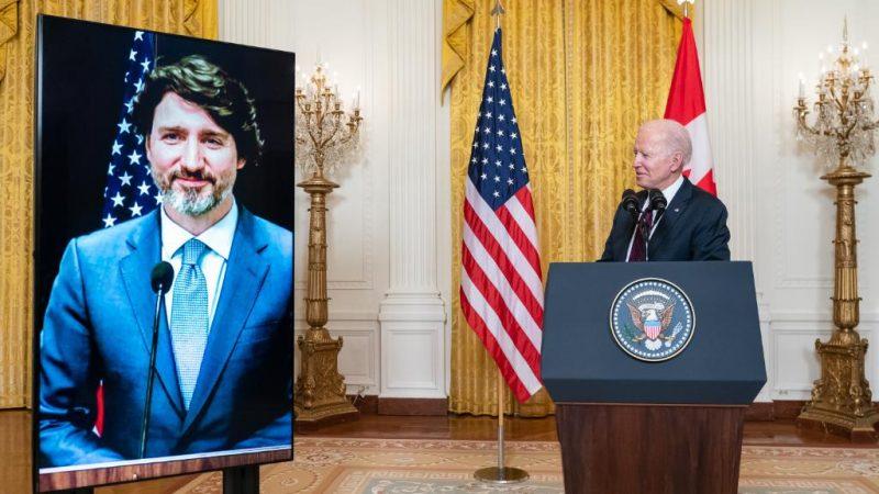 Justin Trudeau, Kanada, premier, Joe Biden, USA, prezydent, Stany Zjednoczone