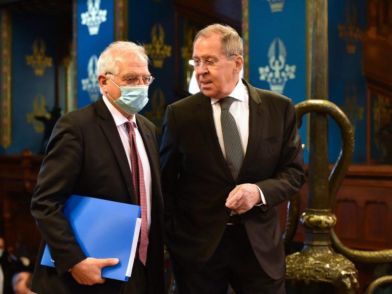 Josep Borrell i Siergiej Ławrow podczas spotkania w Moskwie, źrodło: EC - Audiovisual Service/European Union 2021, fot. Vasily Maximov