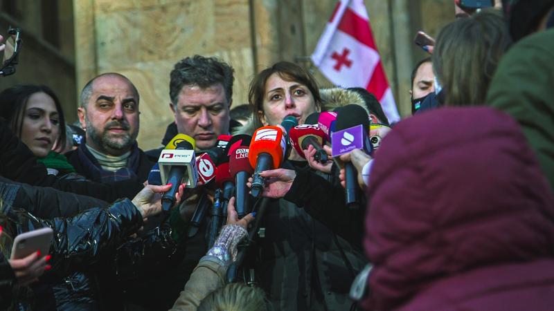 Gruzja: Opozycja protestuje na ulicach po zatrzymaniu jednego z jej liderów