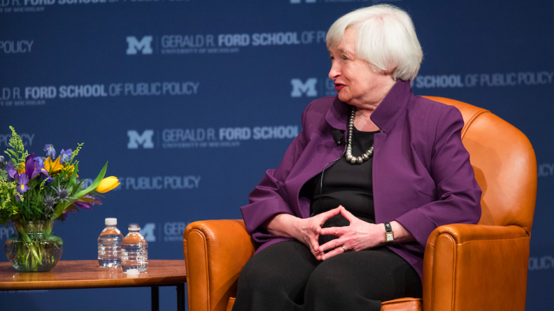 Sekretarz skarbu USA Janet Yellen zapowiedziała koniec amerykańskiego sprzeciwu wobec globalnego podatku cyfrowego, źródło: Flickr/Gerald R. Ford School of Public Policy University of Michigan (CC BY-ND 2.0)