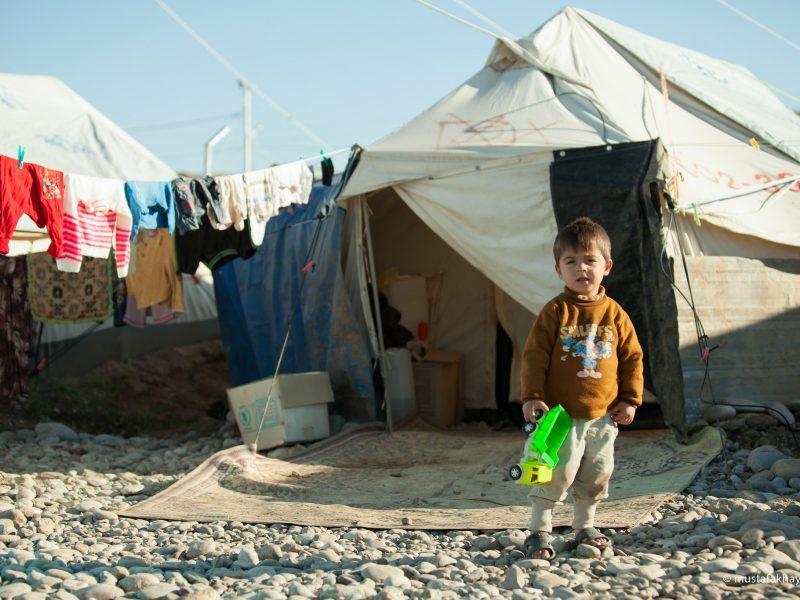 Obóz dla uchodźców z Syrii