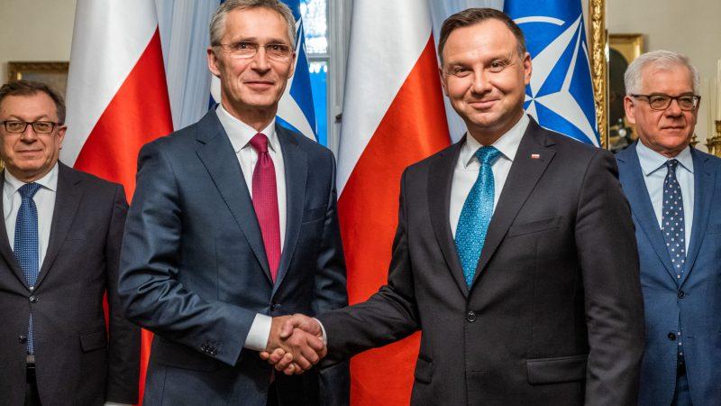 Jens Stoltenberg, NATO, Andrzej Duda, Polska