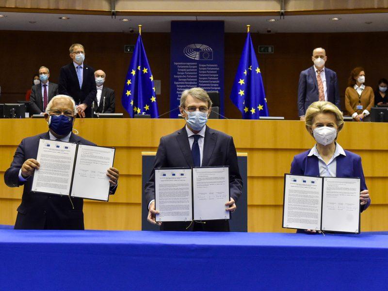 Konferencja o Przyszłości Europy, António Costa, David Sassoli, Ursula von der Leyen