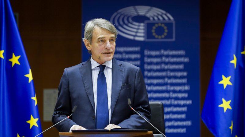 PE, David Sassoli, Parlament Europejski