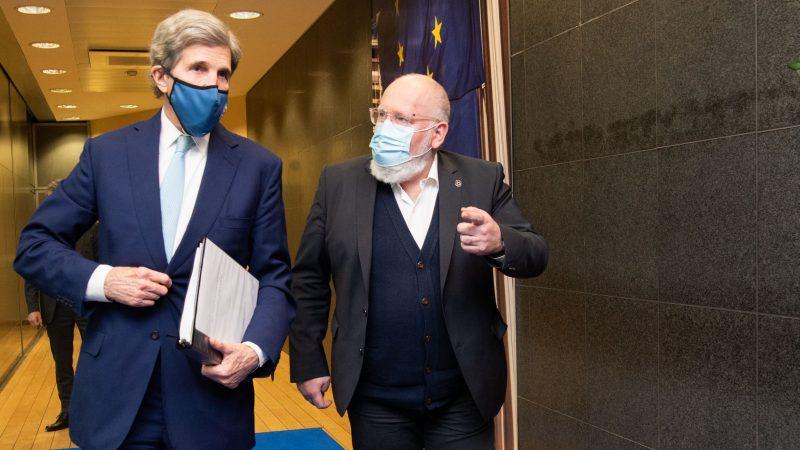 uniaeuropejska-johnkerry-stanyzjednoczone-klimat-komisjaeuropejska-vonderleyen-timmermans-cop26-glasgow