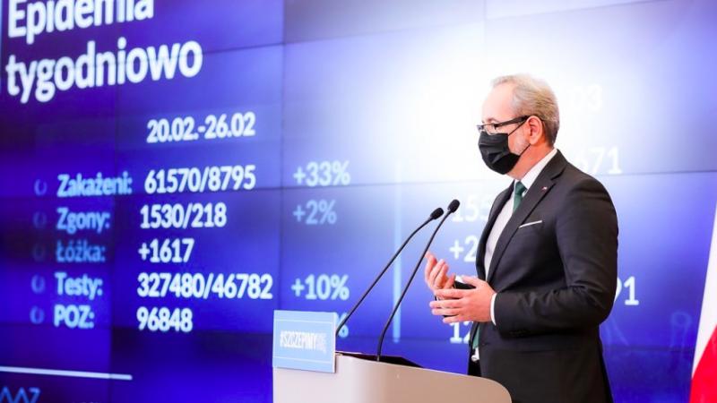 Minister zdrowia Adam Niedzielski, źródło: Twitter/Ministerstwo Zdrowia