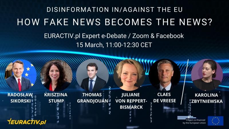 webinar, dezinformacja, Sikorski, Unia Europejska, fake news