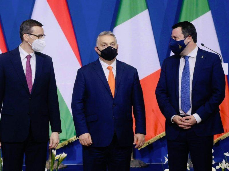 Viktor Orban, Matteo Salvini, Mateusz Morawiecki, Węgry, Włochy, Polska, Budapeszt