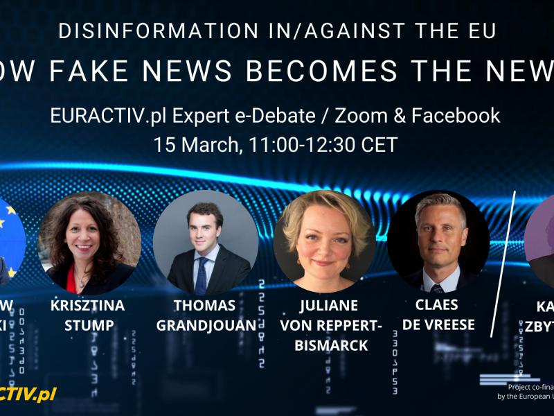 dezinformacja, webinar, Radosław Sikorski, fake news
