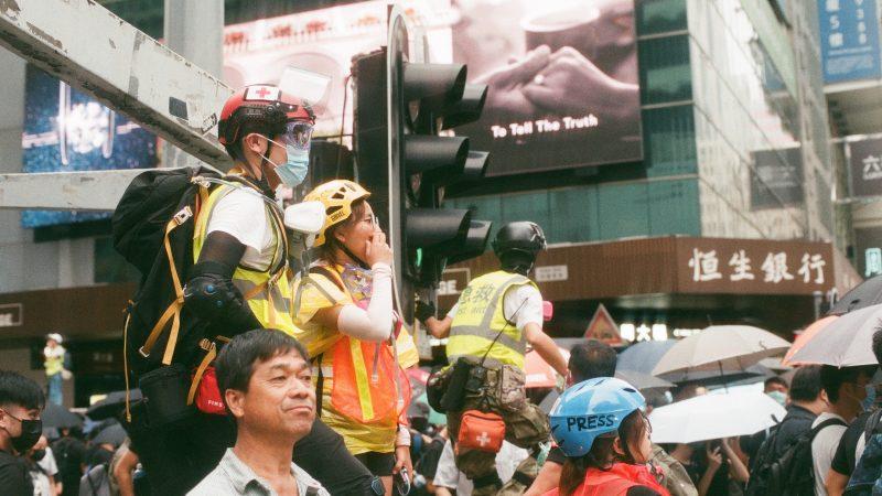 Jeden z prodemokratycznych protestów w Hongkongu (Photo by 𝓴𝓘𝓡𝓚 𝕝𝔸𝕀 on Unsplash)