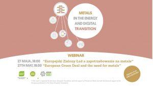 Europejski Zielony Ład a zapotrzebowanie na metale – debata online