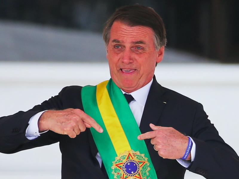Brazylijski prezydent Jair Bolsonaro, źródło: Flickr, fot. Jeso Carneiro (CC BY-NC 2.0)