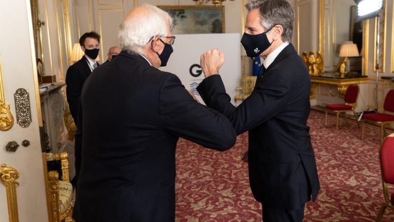 Josep Borrell, Antony Blinken, UE, USA, Stany Zjednoczone, G7