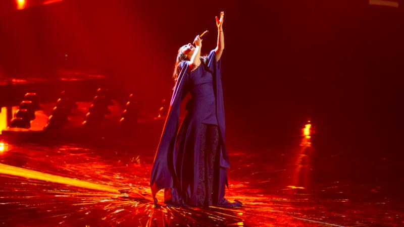 Jamala podcasz zwycięskiego występu na konkursie Eurowizji w 2016 r., źródło: Wikipedia, fot. Albin Olsson (CC BY-SA 4.0)