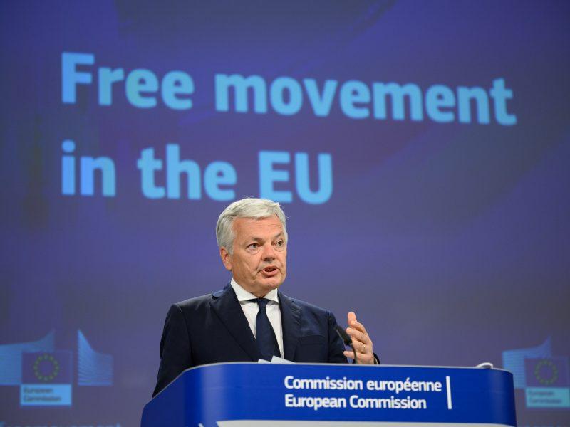 Komisarz UE ds. sprawiedliwości Didier Reynders, źródło: EC - Audiovisual Service/European Union 2021, fot. Christophe Licoppe