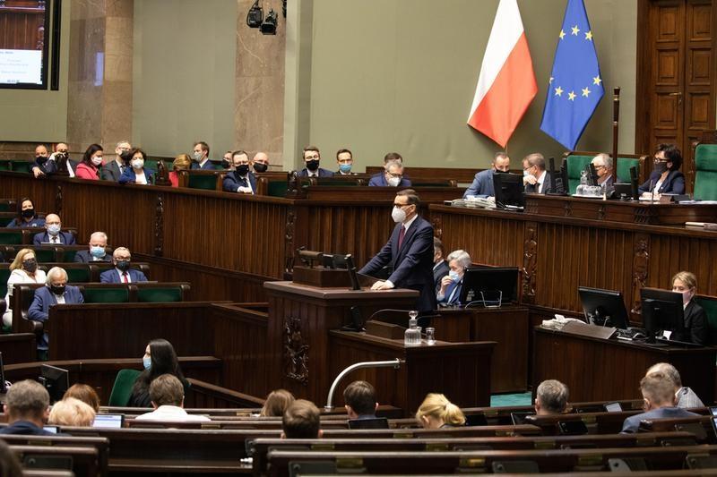 Posiedzenie Sejmu ws. ratyfikacji ustawy o zasobach własnych UE, źródło Kancelaria Sejmu Aleksander Zieliński