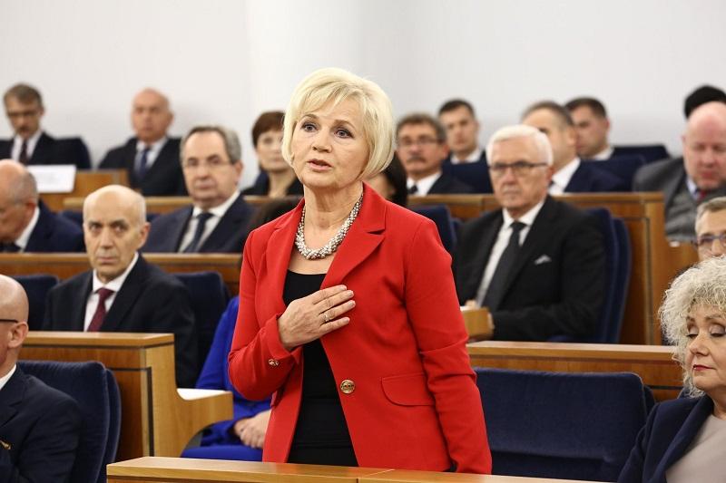 Senator niezależna Lidia Staroń, źródło fb Lidia Staroń