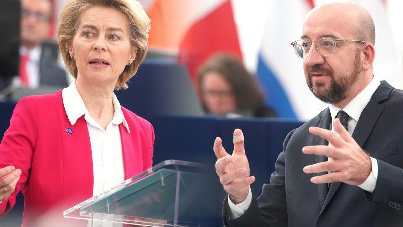Leyen, Michel, UE, unia europejska, USA, Biden, Bruksela, Waszyngton, Chiny, Rosja, Big Tech, cła, handel, WTO