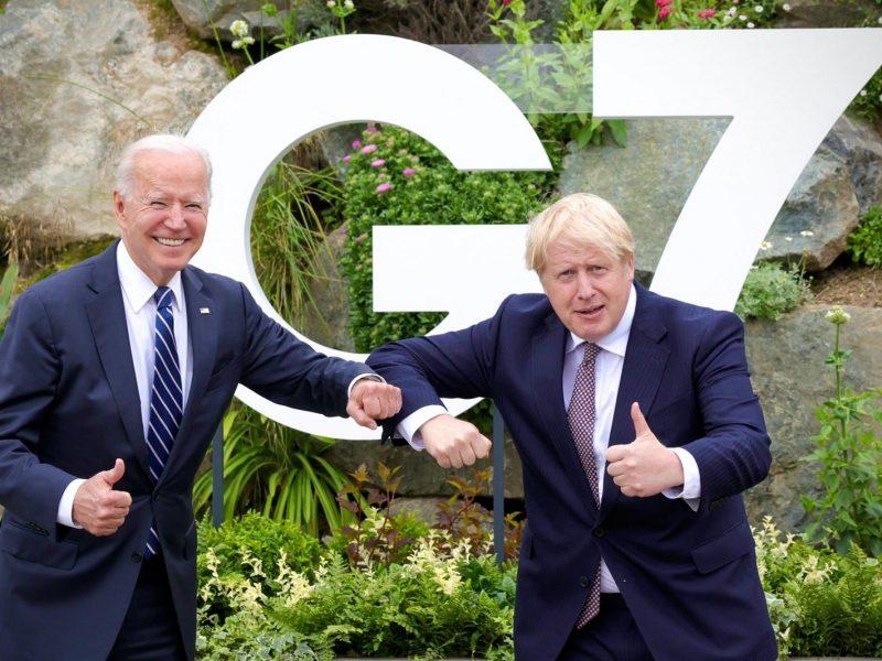 G7, Joe Biden, Boris Johnson, USA, Wielka Brytania