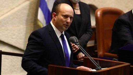 Premier Izraela Naftali Bennett przemawia w Knesecie, źródło: Twitter/Naftali Bennett בנט (@naftalibennett)