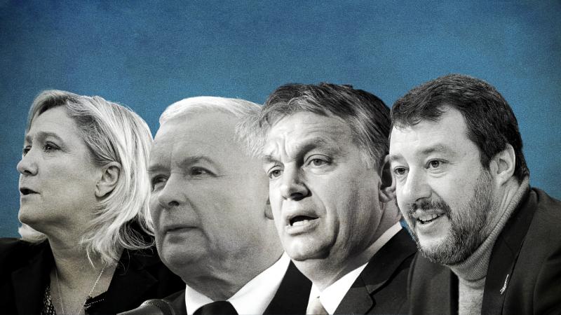 Liga, Salvini, Orban, Fidesz, PiS, Kaczynski, Le Pen, populiści, prawica, unia europejska, parlament europejski