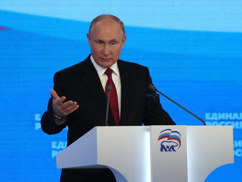 Władimir Putin, Rosja, Jedna Rosja