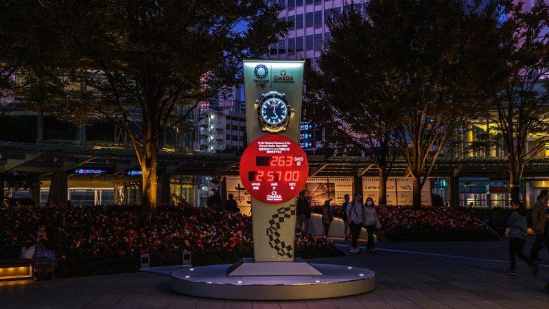 Zegar odliczający w Tokio czas do oficjalnego rozpoczęcia Igrzysk Olimpijskich, źródło: Flickr/fot. Gilbert Sopakuwa (CC BY-NC-ND 2.0)