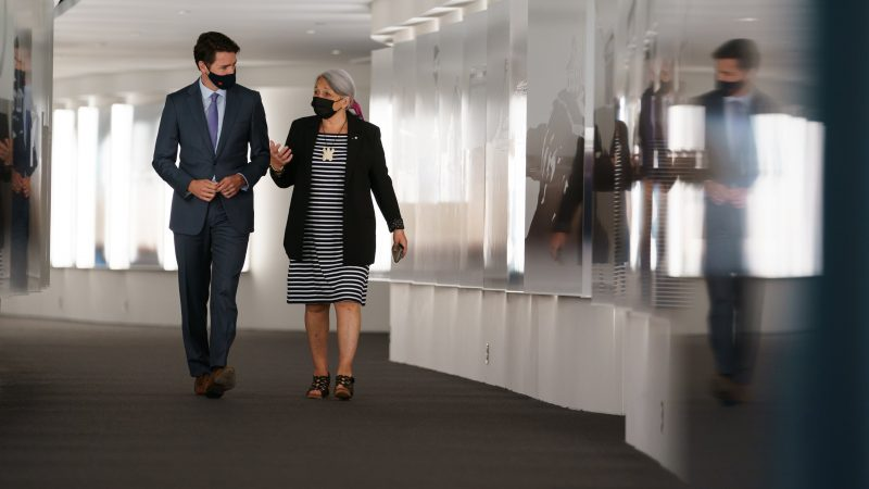 Premier Kanady Justin Trudeu i nowa gubernator generalna Mary Simon, źródło: Twitter/Justin Trudeau (@JustinTrudeau)