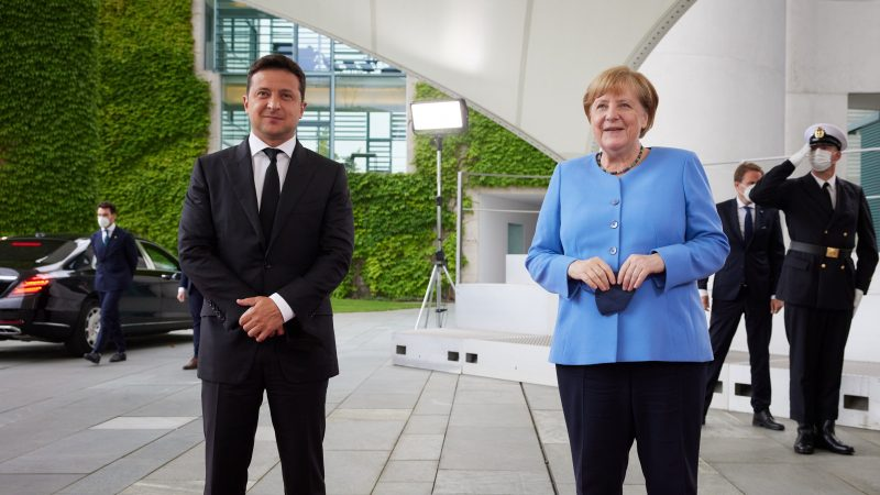 Ukraina, Niemcy, Wołodymyr Zełenski, Angela Merkel