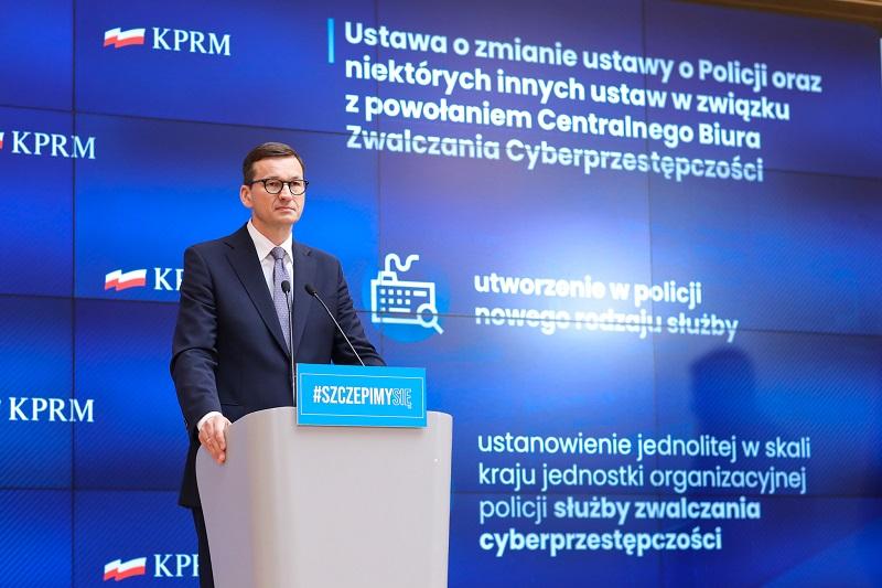 Premier Mateusz Morawiecki, Powołanie Centralnego Biura ds. Zwalczania Cyberprzestępczości, źródło KPRM